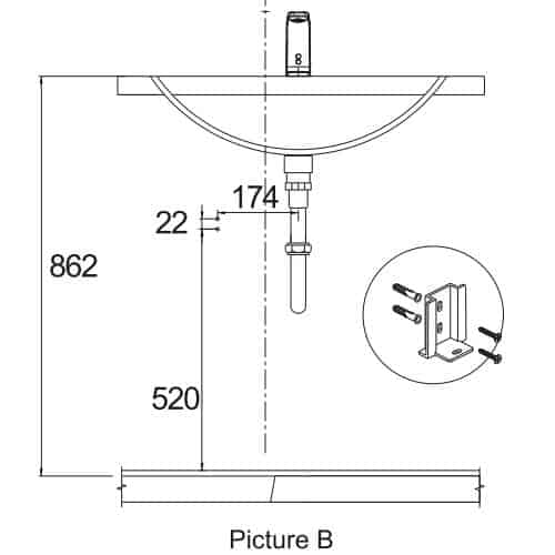how to install touchless faucet step two